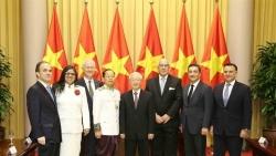 Tổng Bí thư, Chủ tịch nước Nguyễn Phú Trọng tiếp 7 Đại sứ trình Quốc thư