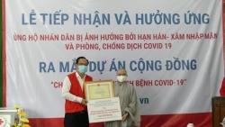 Hội Phật tử Việt Nam tại Hàn Quốc ủng hộ chống hạn mặn và COVID-19