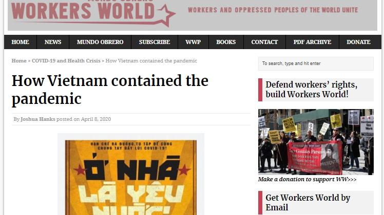 Báo Anh và Mỹ: Việt Nam là tấm gương trong công cuộc phòng chống COVID-19