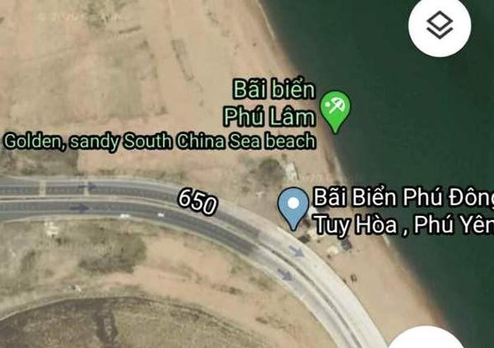 kien nghi viec google maps thong tin sai su that ve bai bien o phu yen