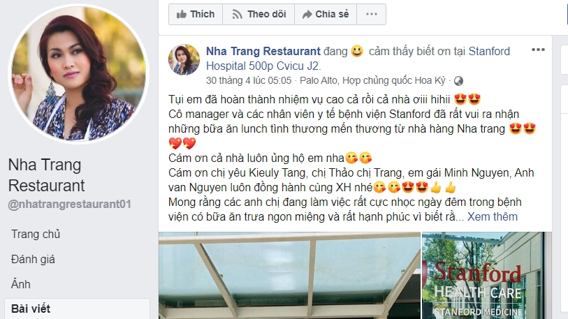 Nhà hàng Việt tài trợ hàng trăm suất ăn giúp các bác sĩ California, Mỹ chống COVID-19