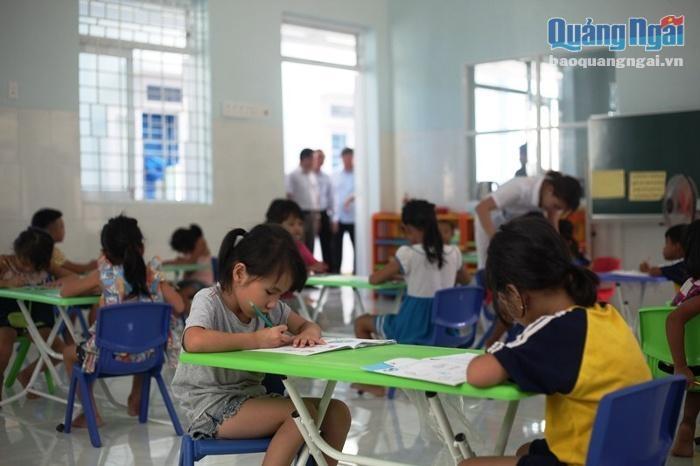 children of vietnam tai tro 850 trieu dong xay 2 phong hoc cho truong mam non huyen son tay tinh quang ngai