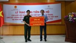 Hiệp hội Doanh nhân Việt Nam ở nước ngoài trao hơn 200 triệu cho lực lượng gìn giữ hòa bình Việt Nam