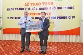 Hải Phòng tặng 1 triệu khẩu trang y tế giúp các nước phòng, chống COVID-19