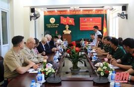 Đoàn Cựu chiến binh Hoa Kỳ đề xuất hợp tác, hàn gắn vết thương chiến tranh tại Thanh Hóa