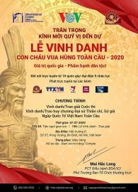 Người Việt 5 châu lục tham gia Lễ vinh danh con cháu vua Hùng toàn cầu 2020