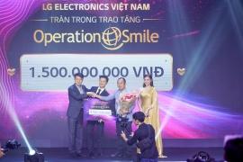 Operation Smile Vietnam nhận 1,5 tỷ đồng tài trợ từ sự kiện đấu giá của LG