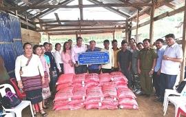 Việt Nam trao tặng hai tấn gạo cho dân nghèo tại Lào