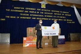 Chính phủ Việt Nam ủng hộ 50.000 USD giúp Myanmar chống COVID-19