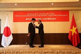 Thị trưởng Seiji Hagiwara (Nhật Bản) nhận Huy chương Hữu nghị của Việt Nam