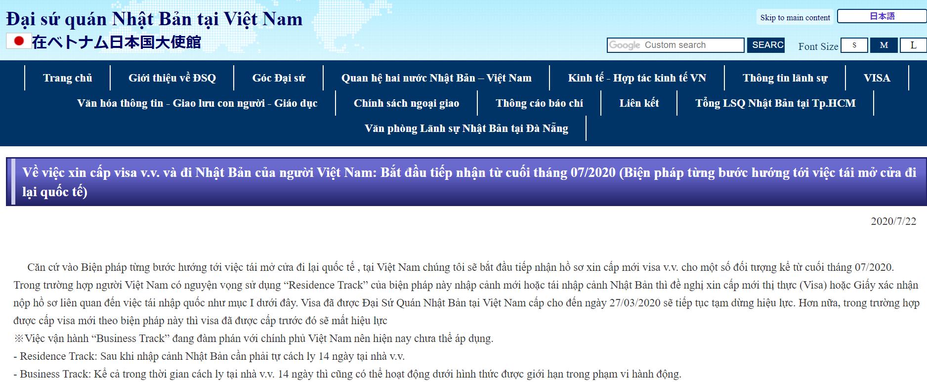 Công dân Việt Nam có thể xin thị thực visa sang Nhật Bản từ cuối tháng 7