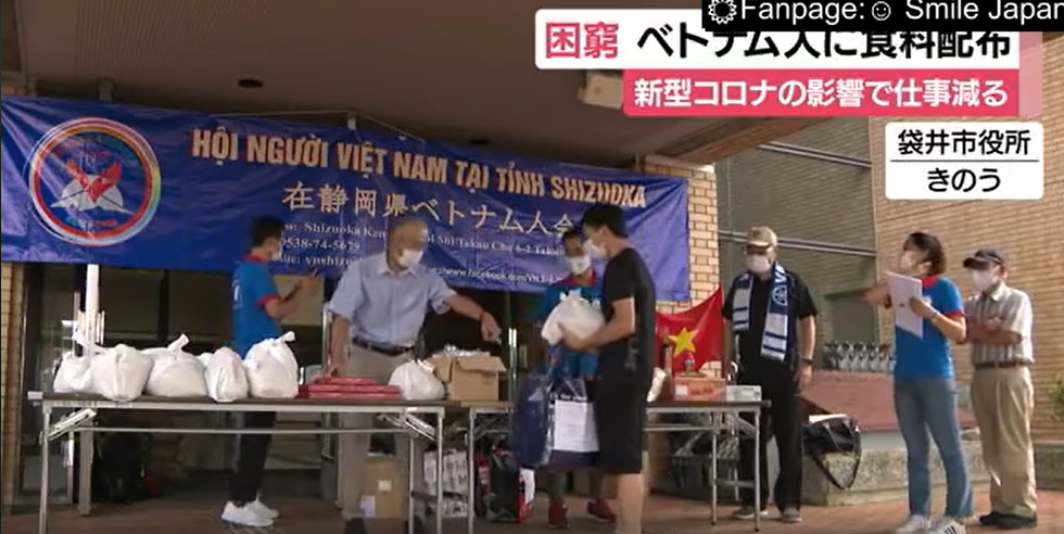 Hội người Việt Nam tại Shizuoka (Nhật Bản) trao quà cho 70 công dân Việt