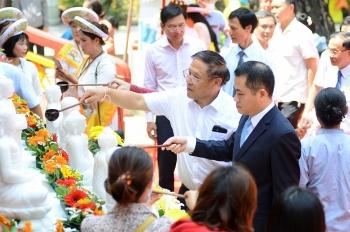 Nồng ấm tết Bunpimay của du học sinh, cán bộ nhân viên Lào tại Đà Nẵng