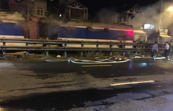 Tàu hỏa bốc cháy khi đã đến gần ga Đà Nẵng