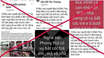 """Bác thông tin có vụ """"bắt cóc trẻ em"""" ở Quảng Nam"""