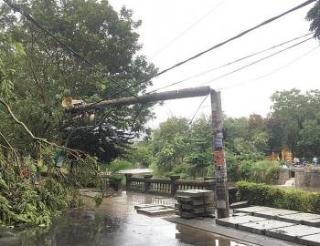 Nhà tốc mái, cây đổ khắp đường tại Thừa Thiên - Huế trước khi bão số 5 đổ bộ