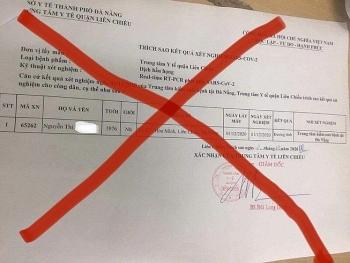 Làm giả phiếu xét nghiệm COVID-19, 2 điều dưỡng ở Đà Nẵng bị xử phạt