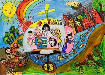 """Những tác phẩm xuất sắc nhất tại cuộc thi vẽ tranh quốc tế """"Chiếc ô tô mơ ước"""" lần thứ 10"""