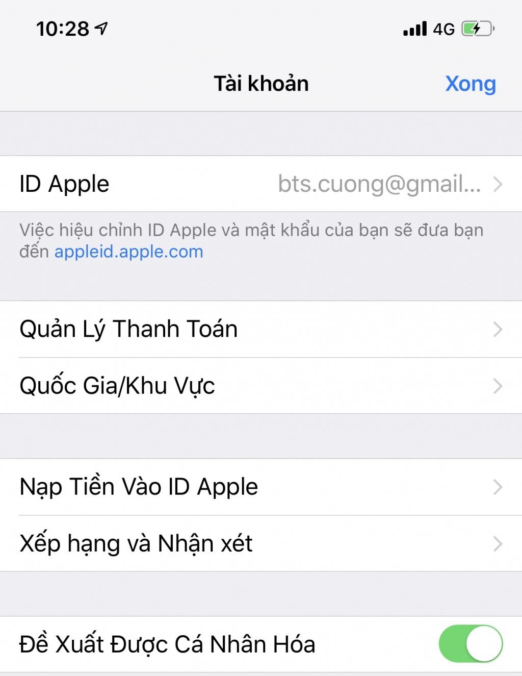 Cách chuyển vùng Quốc Gia trên App Store cho người dùng IOS