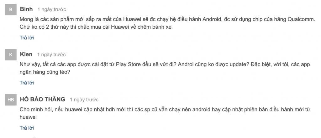 phan hoi chinh thuc tu huawei viet nam chua lam khach hang hai long
