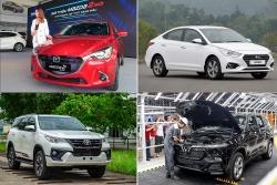 """Toàn thị trường ô tô sụt giảm mạnh trong tháng """"cô hồn"""""""