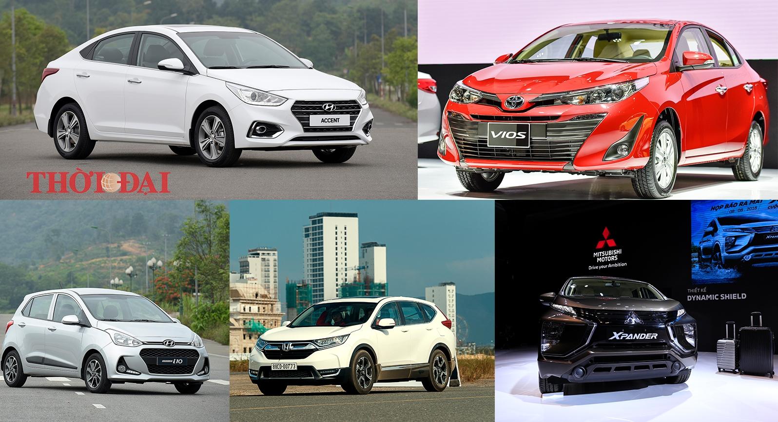 top 5 xe o to ban chay nhat tu dau nam 2019