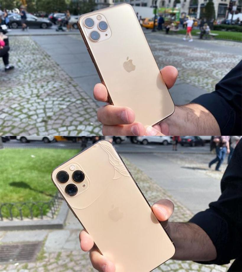 iphone 11 pro tan nat chi sau cu roi nhe