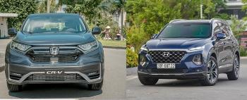 Mua xe SUV 7 chỗ tầm hơn 1 tỷ đồng: Honda CR-V hay Hyundai Santa Fe?