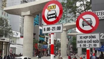 Hà Nội: Khôi phục lại biển cấm xe hợp đồng trên 10 tuyến phố từ 15/9