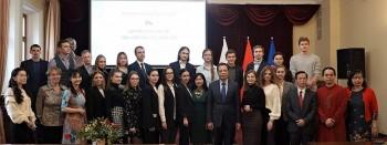 Nhiều cảm xúc tại cuộc giao lưu giữa sinh viên Nga và giảng viên ngành tiếng Việt