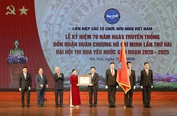 Lễ kỷ niệm 70 năm Ngày Truyền thống và Đại hội thi đua yêu nước giai đoạn 2020-2025 của Liên hiệp các tổ chức hữu nghị Việt Nam