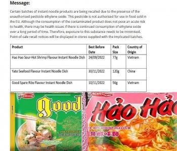 Vụ mì Hảo Hảo chứa chất cấm tại EU: Lời cảnh tỉnh với các doanh nghiệp xuất khẩu thực phẩm