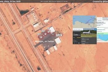 Vệ tinh tư nhân phát hiện 4 máy bay quân sự Nga tại căn cứ không quân LNA