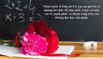 Lời chúc 8/3 cho cô giáo hay và ý nghĩa, thể hiện sự tri ân sâu sắc