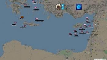 Hạm đội Nga tập hợp ngoài khơi Địa Trung Hải, chuẩn bị tấn công diệt phiến quân?