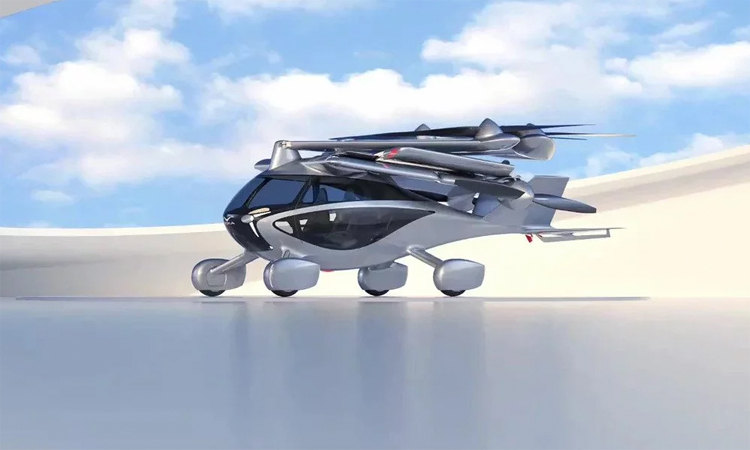 Video: Cận cảnh xe bay tốc độ 240 km/h có thể gấp gọn 6 cánh