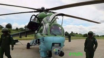 Video: Trực thăng Mi-35 của Myanmar bị bắn hạ bởi tên lửa vác vai