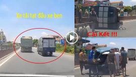 Tin tức tai nạn giao thông (TNGT) nóng nhất chiều 17/7: Tạt đầu xe ben, xe tải bị đâm bay khoang lái