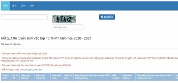 Tra cứu điểm thi tuyển sinh lớp 10 Hà Tĩnh năm 2020