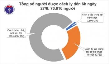 Việt Nam tạm thời không có ca mắc mới COVID-19, hơn 70.000 người đang được cách ly