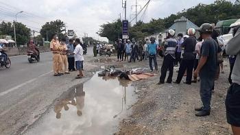 Tai nạn giao thông sáng 16/9: Xe container tông mô tô khi rẽ vào bãi đậu, chèn người đàn ông tử vong thương tâm