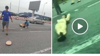 Tai nạn giao thông sáng 21/9: Truy bắt thanh niên tông CSGT gãy chân rồi phóng xe phân khối lớn bỏ chạy