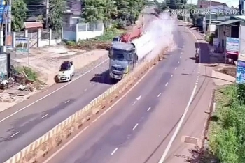 Camera giao thông: Xe đầu kéo