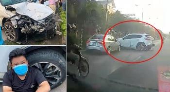 Camera giao thông: Hình ảnh kinh hoàng vụ thanh niên 18 tuổi lái xe ô tô gây tai nạn liên hoàn ở Sơn Tây