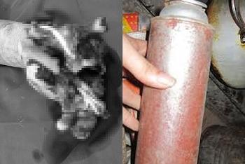 Người đàn ông gặp nạn vì bình gas mini phát nổ khi khò thịt
