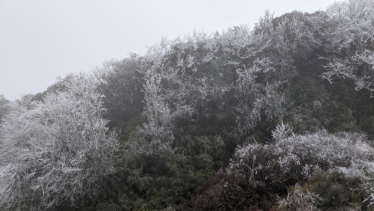 Cao Bằng xuất hiện băng tuyết như châu Âu dưới tiết trời -9 độ C