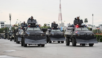 Kỵ binh, xe bọc thép và 6.000 người xuất quân bảo vệ Đại hội Đảng
