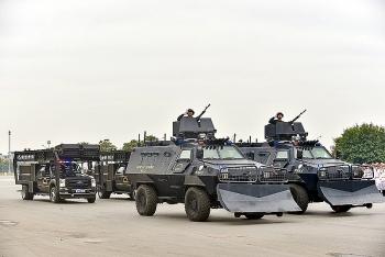 Xuất quân diễn tập bảo vệ Đại hội Đảng lần thứ XIII