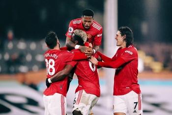 Kết quả, Bảng xếp hạng (BXH) Ngoại hạng Anh ngày 21/1: Thắng  nhọc Fulham, MU đòi lại ngôi đầu