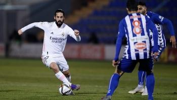 Thua đội hạng ba, Real Madrid dừng bước tại cúp Nhà vua Tây Ban Nha
